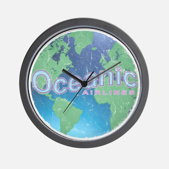 Oceanic Airline Weathered Wall Clock