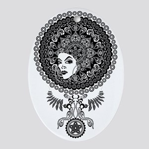 Mandala Afro Oval Ornament