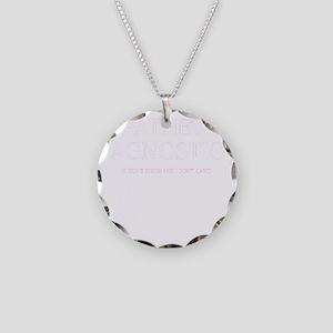 agnostic Necklace Circle Charm