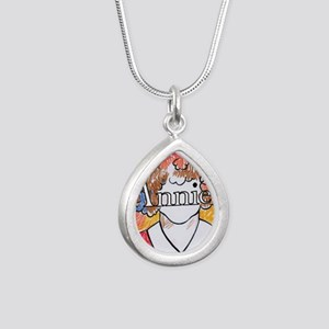 Annie_ornament_oval Silver Teardrop Necklace
