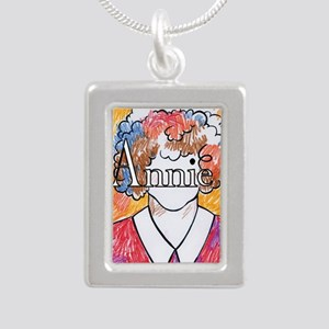 Annie_ornament_oval Silver Portrait Necklace