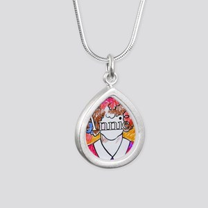 Annie(10X10) Silver Teardrop Necklace