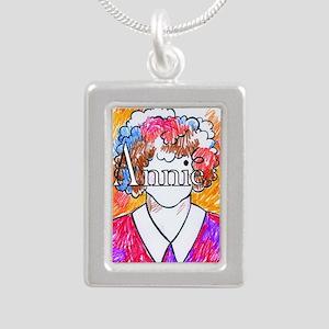 Annie(10X10) Silver Portrait Necklace