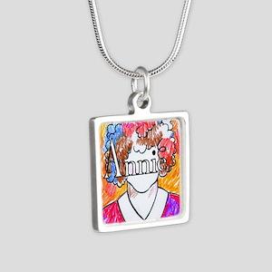 Annie(10X10) Silver Square Necklace