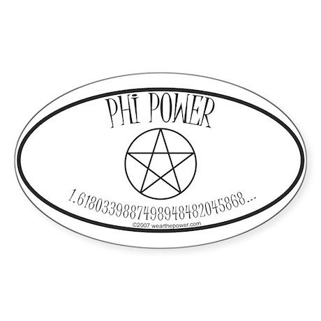 Phi Power Oval Sticker