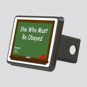 Teacher Chalkboard Rectangular Hitch Cover