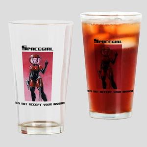 spacegirl standard shirt LIGHT 1 Drinking Glass