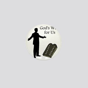 Gods Will For Us Mini Button