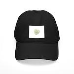 Peace Symbol on a Candy Heart Black Cap