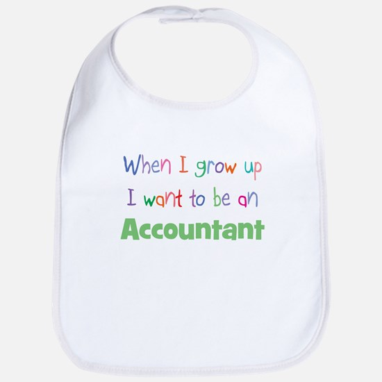 When I Grow Up Accountant Bib