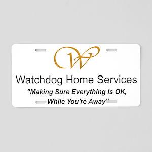 watchdog crest Aluminum License Plate