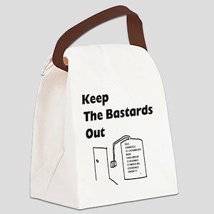 keepbastardsout Canvas Lunch Bag