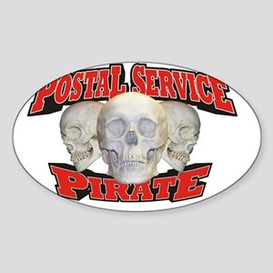 Pirate_Postal_21x14 Sticker (Oval)