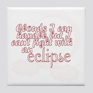 cant fight an eclipse Tile Coaster