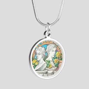 Gemini 1 Silver Round Necklace