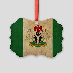 vintageNigeria3 Picture Ornament