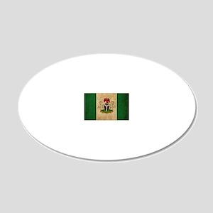 vintageNigeria3 20x12 Oval Wall Decal