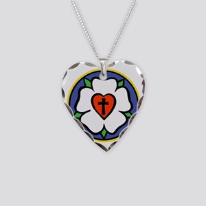 Luther Rose Large Dark Necklace Heart Charm
