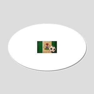 vintageNigeria4 20x12 Oval Wall Decal