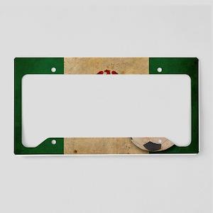 vintageNigeria4 License Plate Holder
