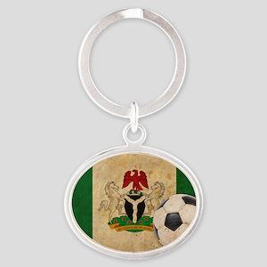 vintageNigeria4 Oval Keychain
