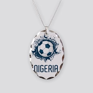 Nigeria World Cup 3 Necklace Oval Charm