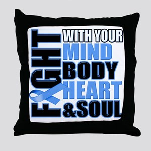 Fight Against Colon Cancer Throw Pillow