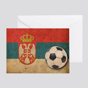 vintageSerbia4 Greeting Card