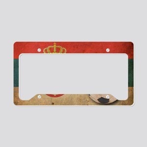 vintageSerbia4 License Plate Holder