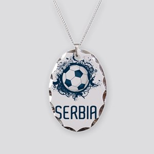 Serbia Football3 Necklace Oval Charm