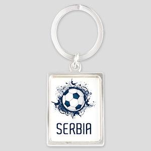 Serbia Football3 Portrait Keychain
