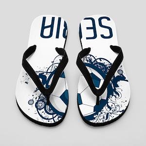 Serbia Football3 Flip Flops