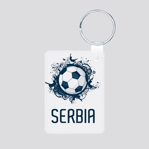 Serbia Football3 Aluminum Photo Keychain