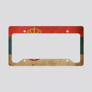 vintageSerbia3 License Plate Holder