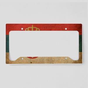 vintageSerbia3 License Plate Holder