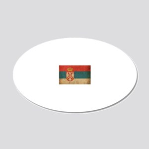 vintageSerbia3 20x12 Oval Wall Decal