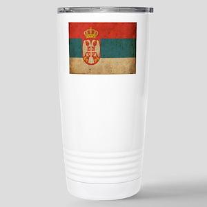 vintageSerbia3 Stainless Steel Travel Mug