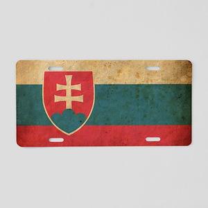 vintageSlovakia3 Aluminum License Plate