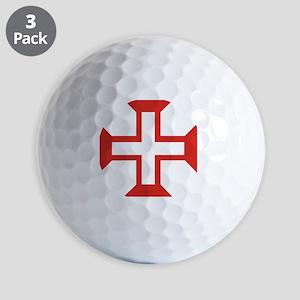 knights templar order of the cross Golf Balls