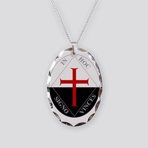 Knights Templar (Latin) Necklace Oval Charm