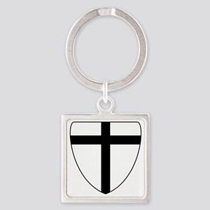 Teutonic Knights coat of arms Square Keychain