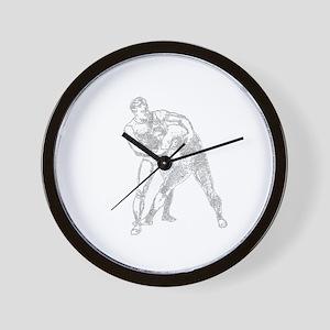 Wrestling(B) Wall Clock