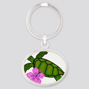 turtlecolor Oval Keychain