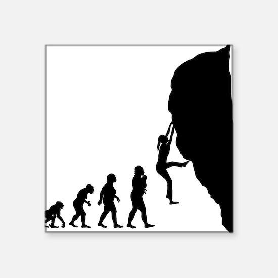 "Rock Climbing Square Sticker 3"" x 3"""