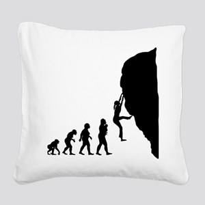 Rock Climbing Square Canvas Pillow