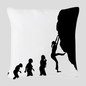 Rock Climbing Woven Throw Pillow