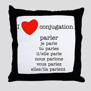 french_black-all Throw Pillow