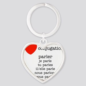 french_black-all Heart Keychain