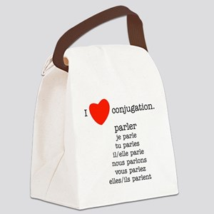 french_black-all Canvas Lunch Bag
