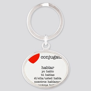 love-black-all Oval Keychain